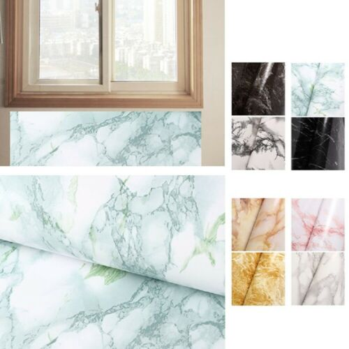 Kitchen Marble Wall Stickers Oil-Proof Waterproof Self Adhesive Home DIY Decor