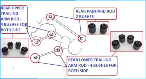 Rear Trailing Arms /& Panhard Rod Bushes Toyota Land Cruiser Amazon HDJ100//UZJ100