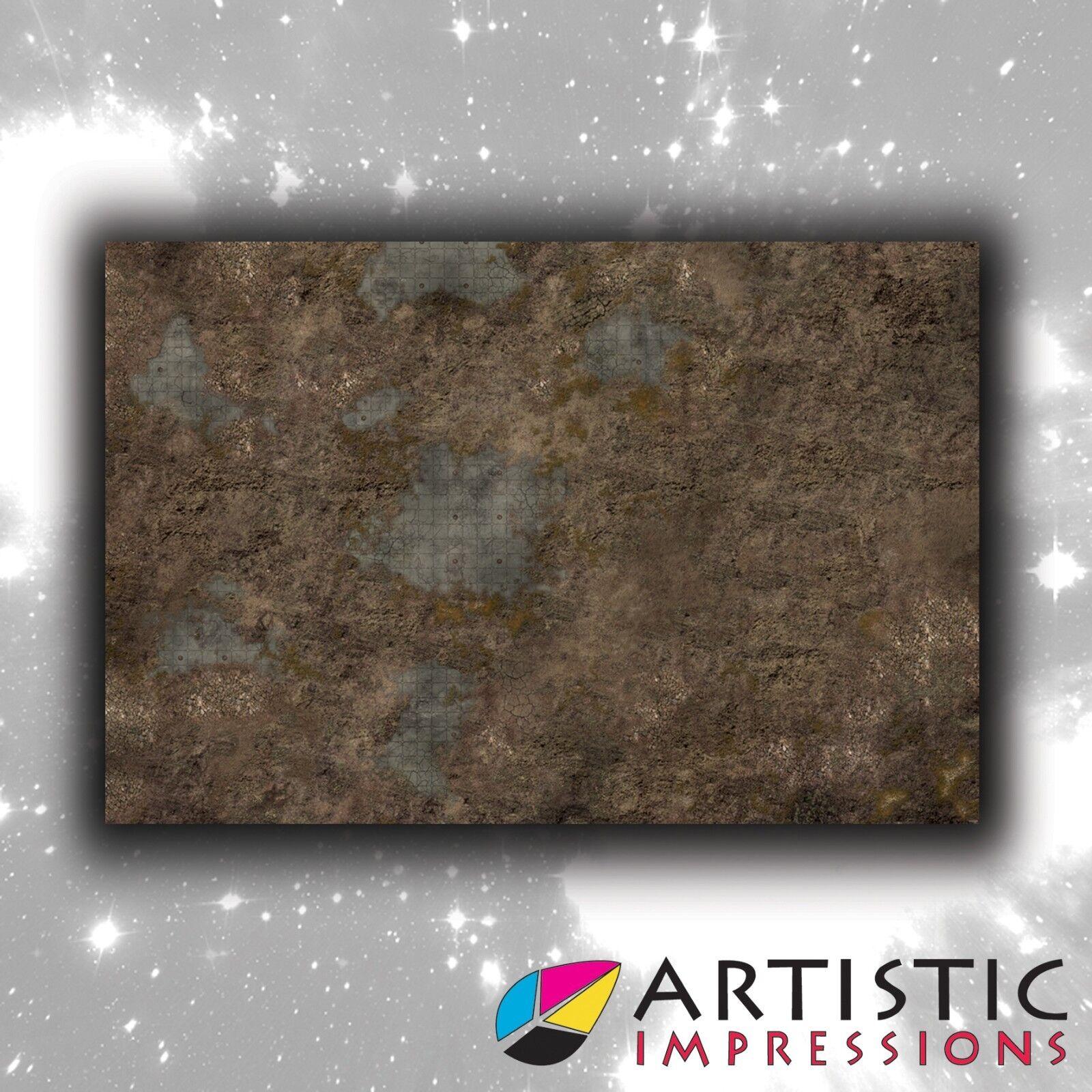 Vinyl 6x4' Ancient Ruin Gaming Mat - Ideal for Warhammer
