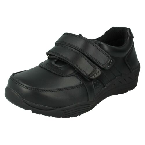 BOYS REDTAG LEATHER COATED RIPTAPE FORMAL CASUAL SCHOOL SHOES TRAINERS N1078