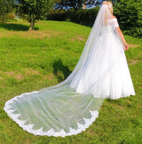 Schleier Lang Brautschleier Lagen Kapelle Strass Perle Hochzeit Braut Kathedrale