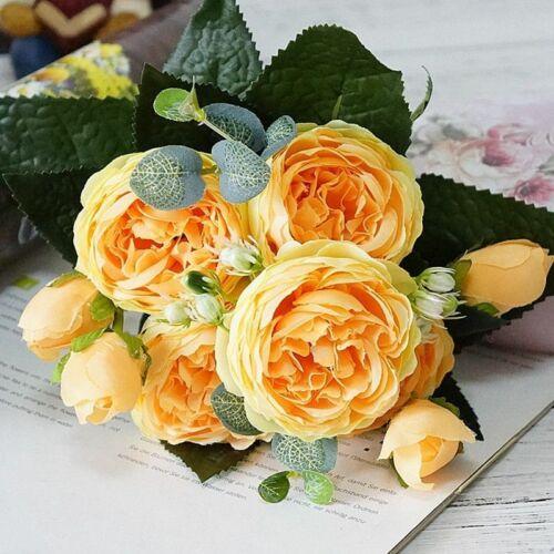 Artificial Silk Flowers Home Garden Party Spring Wedding Decoration Rose Flowers