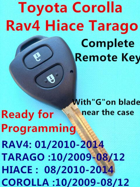 Transponder Chip Remote Key Keyless Entry G for Toyota Corolla Rav4 Hiace Tarago