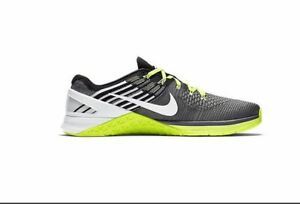 6ac5c0c0ce7cb Nike Metcon DSX Flyknit Black White Grey Volt Training Shoes 852930 ...