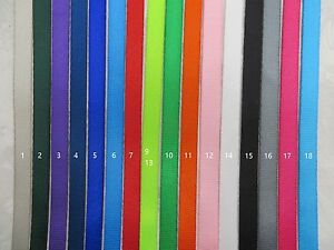 3/8'' (10mm) -5 Yards Colorful Nylon Webbing- Fine-Close-Thin, 14 color choices