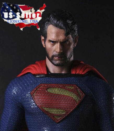1//6 SUPERMAN Henry Cavil Head Sculpt Man of Steel For PHICEN Hot Toys ❶USA❶