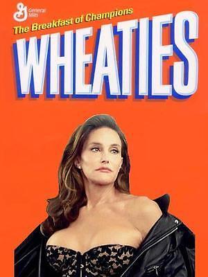 Wheaties # 12 - 8 x 10 Tee Shirt Iron On Transfer Caitlyn Jenner cereal box