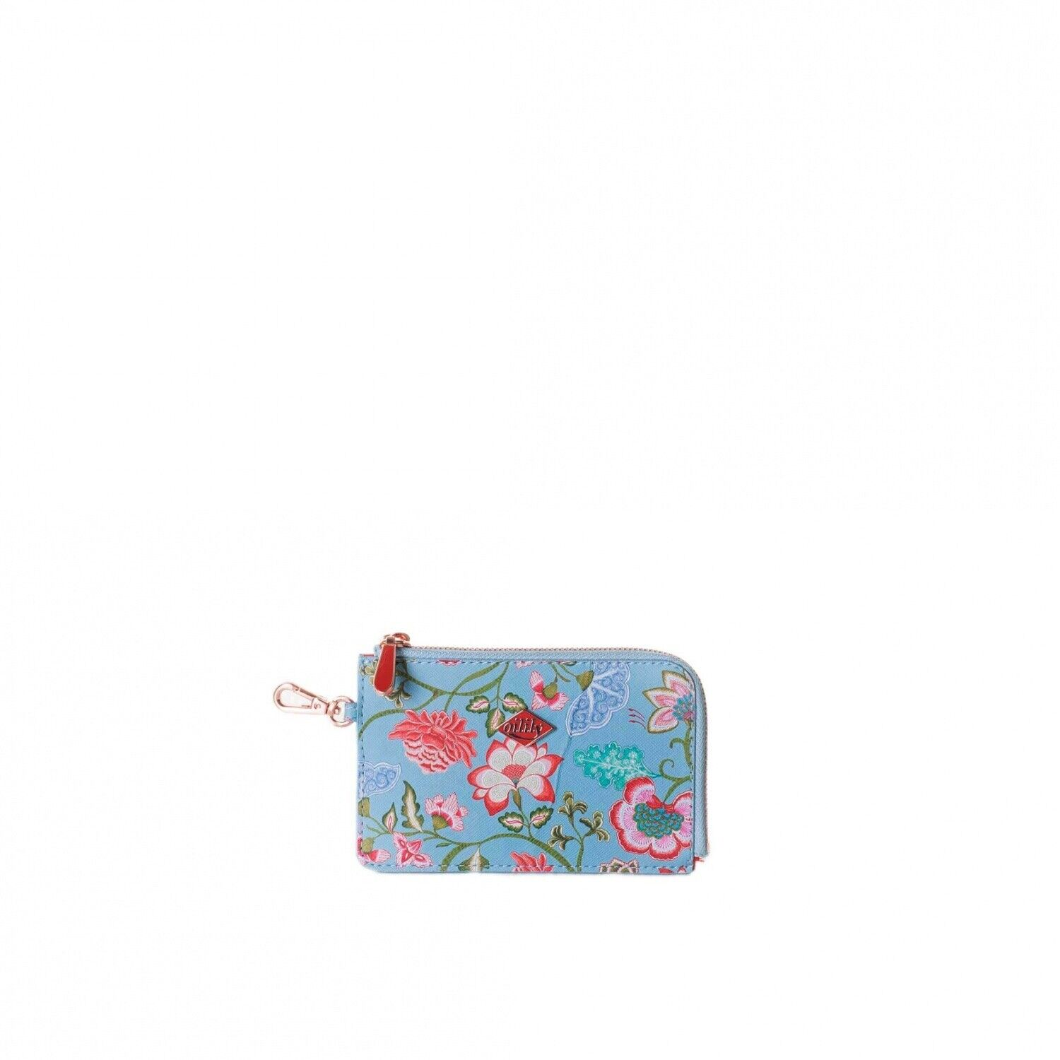 Oilily Royal Single Card Zip Wallet Stratosphere Womens Wallet Card Holder NEW