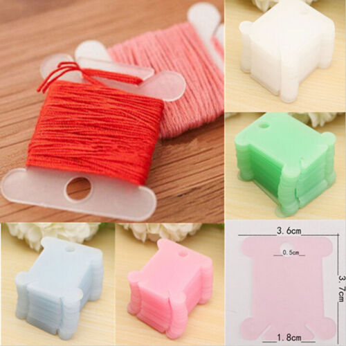 Plastic Thread Bobbins for Cross Stitch Embroidery Floss/&Craft Storage 100PCS
