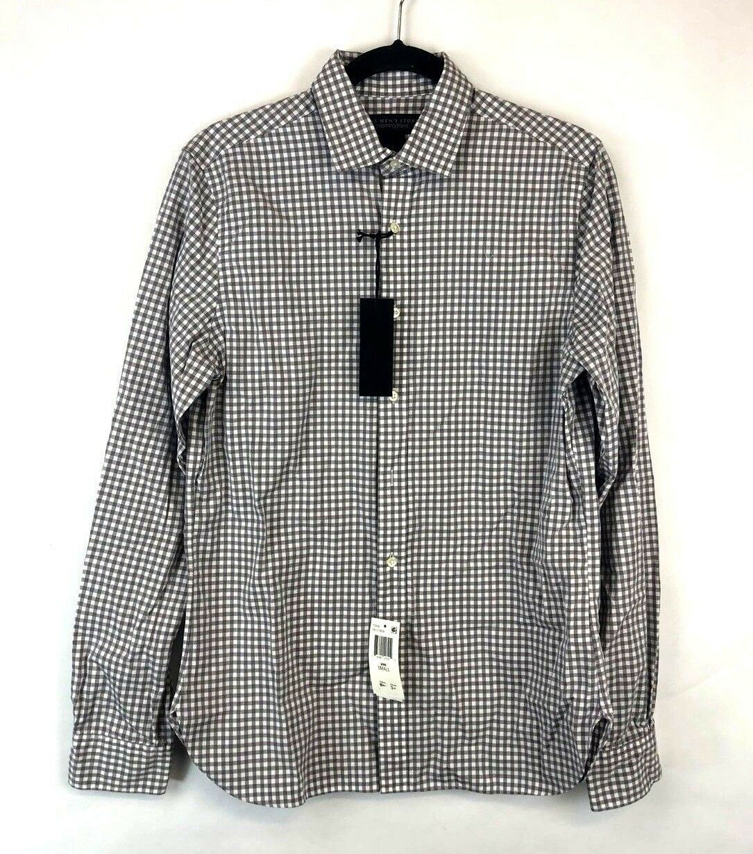 Bloomingdale's Men's Plaid Button Down Size S New With Tags