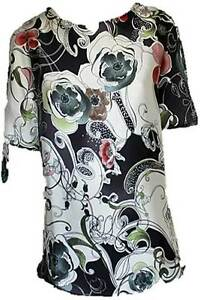 Phase-Eight-lovely-silky-feel-flower-print-top-blouse-10-18-NEW-evening-cruise