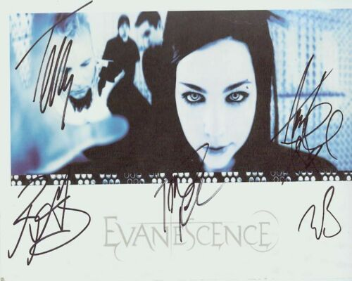 Evanescence 8 x 10 Autograph Reprint Amy Lee +3 Terry Balsamo Will Boyd