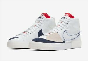 Details about NIKE SB Blazer Mid Edge Hack Pack WHITE/MIDNIGHT NAVY-UNIVERSITY RED US 8