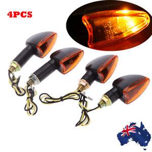 4pcs 12V Motorcycle Bike Bulb Amber Front & Back Turn Signal Indicator H9U4