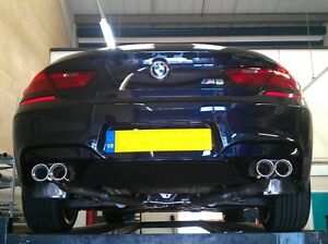 Details about BMW 640D,M6 STYLE QUAD EXHAUST,F06,F10,F12,CUSTOM EXHAUST  SYSTEM,FITTED