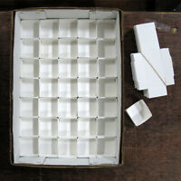"""White Mineral Fold-up Boxes, size 35's (2"""" x 2"""") - 100 pieces"""