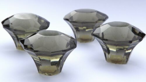 Coupe verre verre fumée mousseux petits Tiroir /& Placard Tire Boutons de Porte 35mm