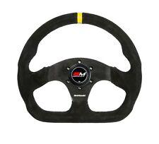 Motamec Formula Race Steering Wheel D Shape 320mm Black Suede Black Spoke