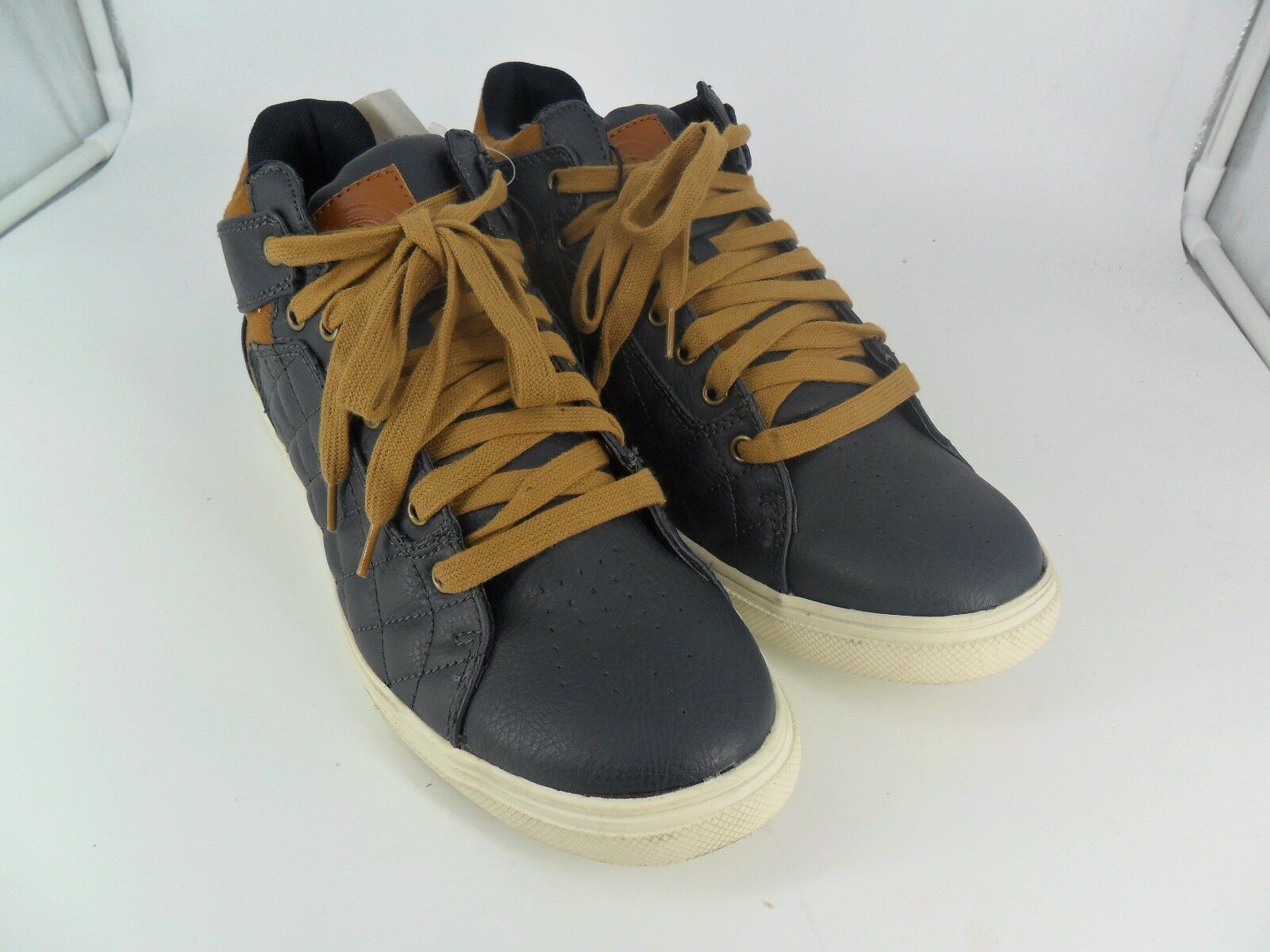 H&M Mens Casual Hi Top Trainers Navy LN077 MM 02 SALEx