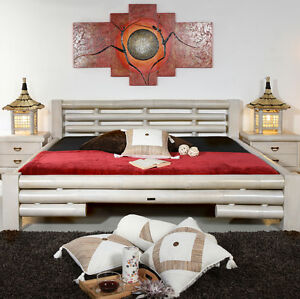 bambusbett 180x200 koh tao wei doppelbett bettgestell holzbett bett design neu ebay. Black Bedroom Furniture Sets. Home Design Ideas