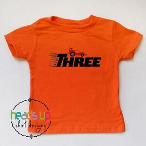 Image Is Loading Toddler 3rd Birthday Shirt Racecar Three Bday Tee