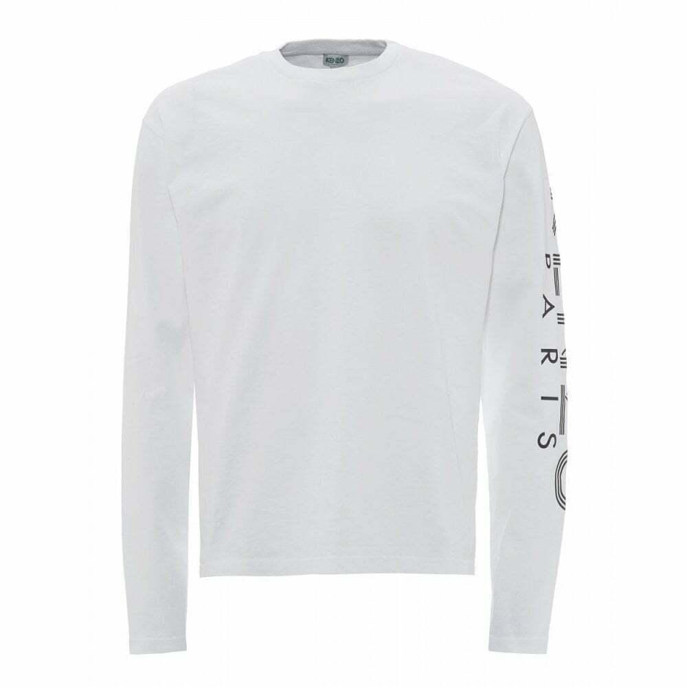 Kenzo Sport Paris Weiß Long Sleeve T-hemd