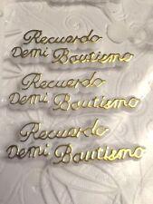 100+ Recuerdo De Mi Bautizo Sign, Baptism Favor or Cake Decorations