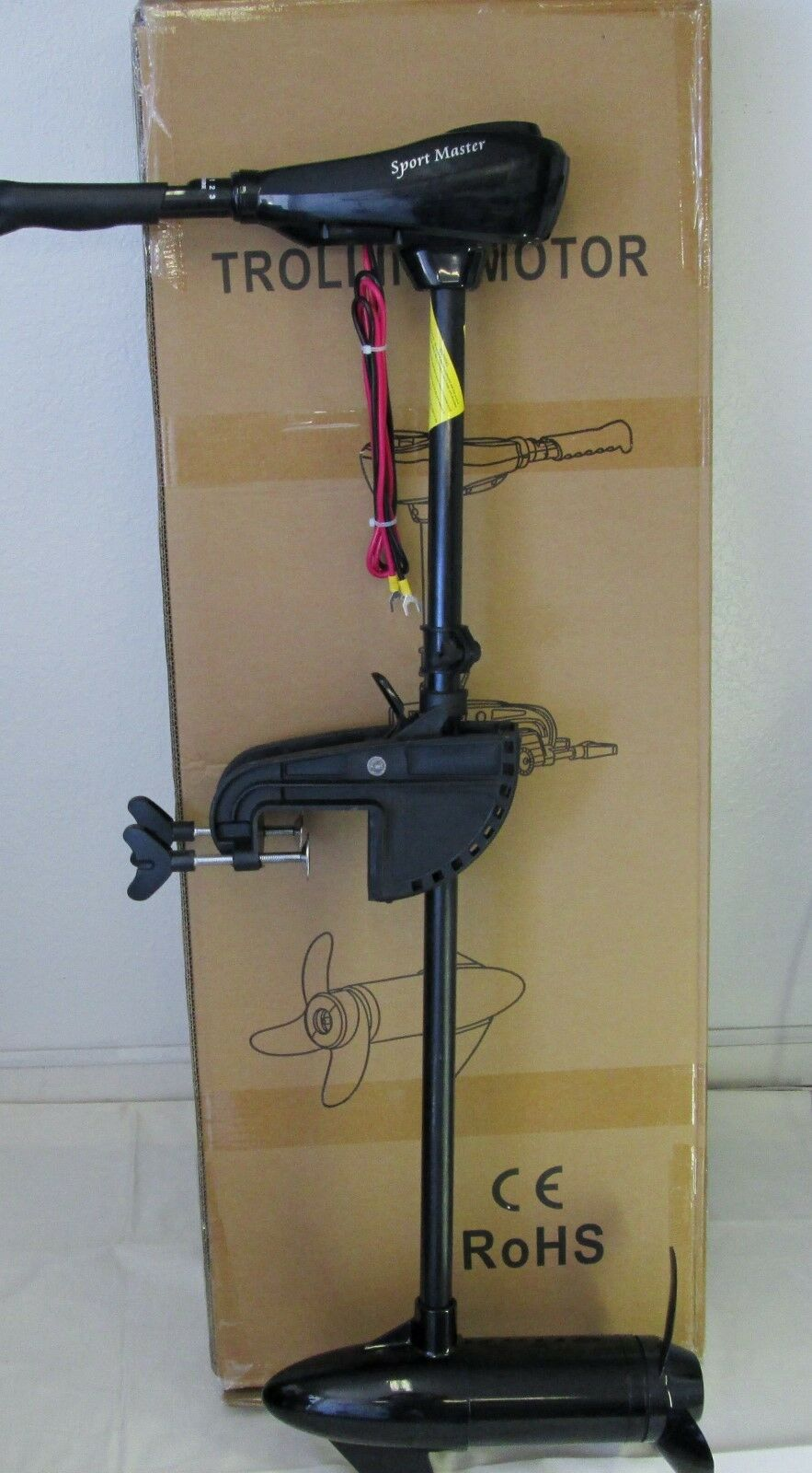 NEW SPORT MASTER  60 lbs Transom Mount Trolling Motor  Fast Shipping