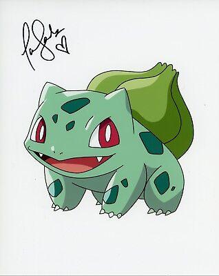 "Television Pokemon"" 8x10 Photo D~ ~ Tara Sands Authentic Hand-signed ""bulbasaur"