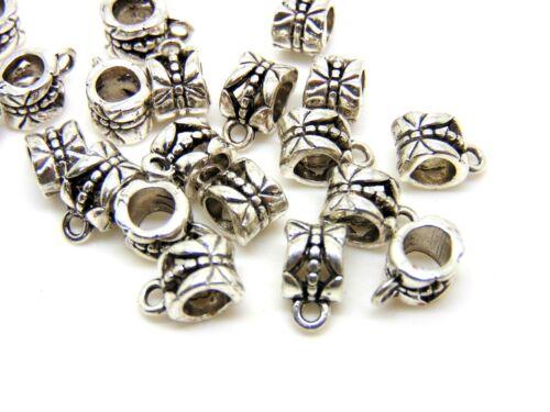 10 Pcs Tibetan Silver Butterfly Bails Jewellery Hangers Pendants Craft F56