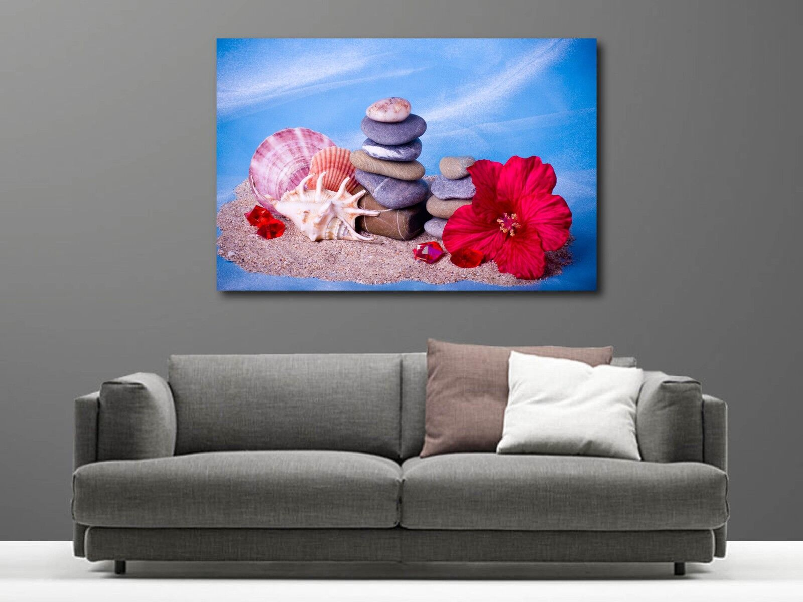 Canvas Paintings Deco Kit Shells and Pebble Ref 9421221