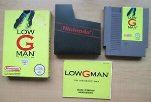 Nintendo-NES-Low-G-Man-BOXED-Game-Manual-INCLUDED