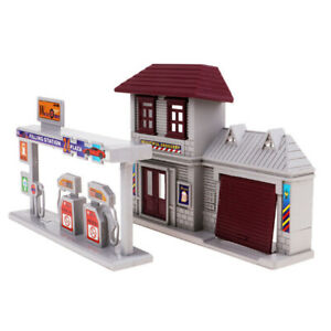 1-87-Train-HO-Scale-Gas-Station-amp-Fire-Department-Model-Building-Kits-Scenery