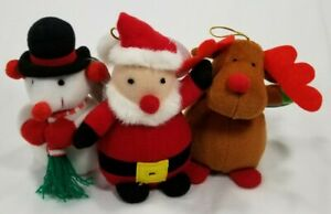 Holly-Jollies-Santa-snowman-or-reindeer-squeaky-small-dog-toy-squeaker-toys-B3
