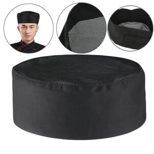 Breathable-Cotton-Top-Skull-Cap-Adjustable-Strap-Professional-Catering-Chefs-Hat