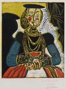 NICE! Pablo Picasso Portrait Buste de femme Young Woman 1958 Print ...