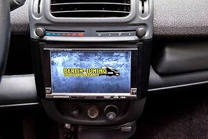 Radio Blende für smart fortwo 450 for two Auto DIN Einbau Rahmen blau DIN  1 DIN
