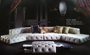 Designer Sofa Couch Polster Wohnlandschaft Chesterfield Ecksofa