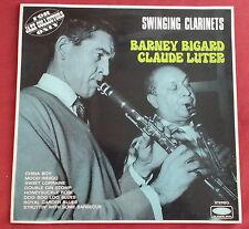 BARNEY BIGARD  CLAUDE LUTER LP ORIG FR  SWINGING CLARINETS