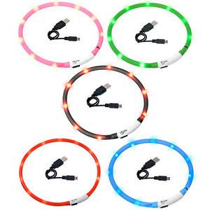 LIQUIDACIoN-Collar-Luminoso-Visio-Light-Led-Luz-Perro-Gato-Mascota-Flamingo