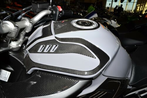 Real carbon fiber Fit Yamaha MT10 MT-10 FZ10 2018  tank  cover pad Trim modd