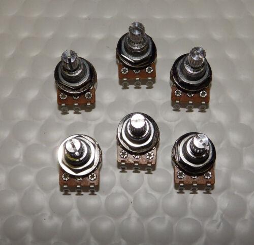 Audio Taper 250K NEW Split Shaft 250 K Alpha Mini Pot Potentiometer 6 PACK!