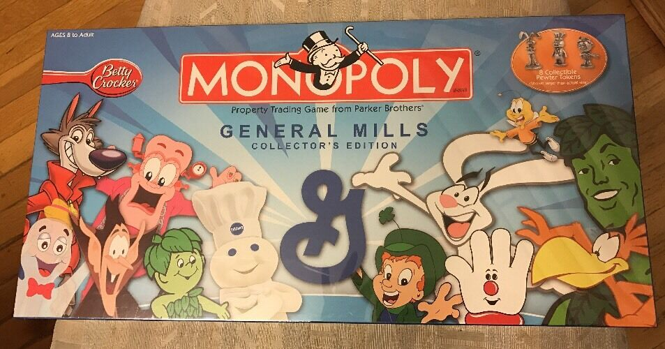 SEALED BRAND NEW MONOPOLY General Mills Collectors Edition Board Game RARE
