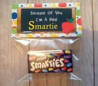 THANK YOU TEACHER GIFT END OF YEAR I'M A REAL SMARTIE NOVELTY GIFT