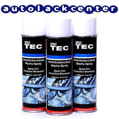 Unterbodenschutz Spray Wachs 3x500ml SprayTec von AutoK K235501