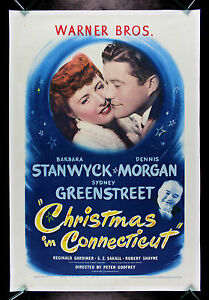 Christmas In Connecticut Movie.Details About Christmas In Connecticut Cinemasterpieces Original Movie Poster Love 1946