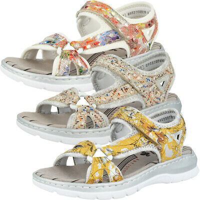 Rieker 66979 Damen Sandalen Antistress Sandaletten Riemen Pantoletten Slipper | eBay