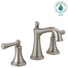 Delta Rila 8 In. Widespread 2Handle Bathroom Faucet In SpotShield Brushed  Nickel