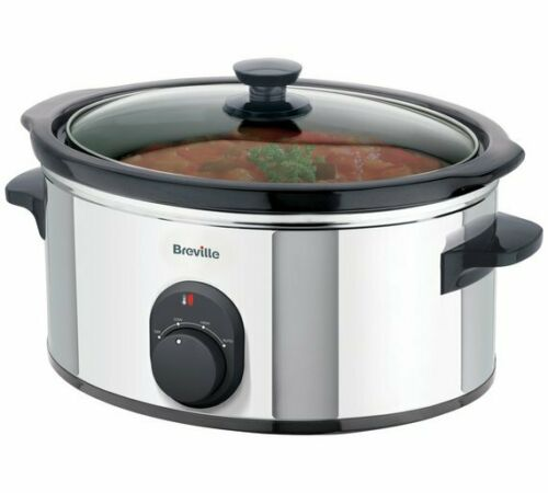 Breville 4.5L Compact Stainless Steel Slow Cooker kitchen appliance black