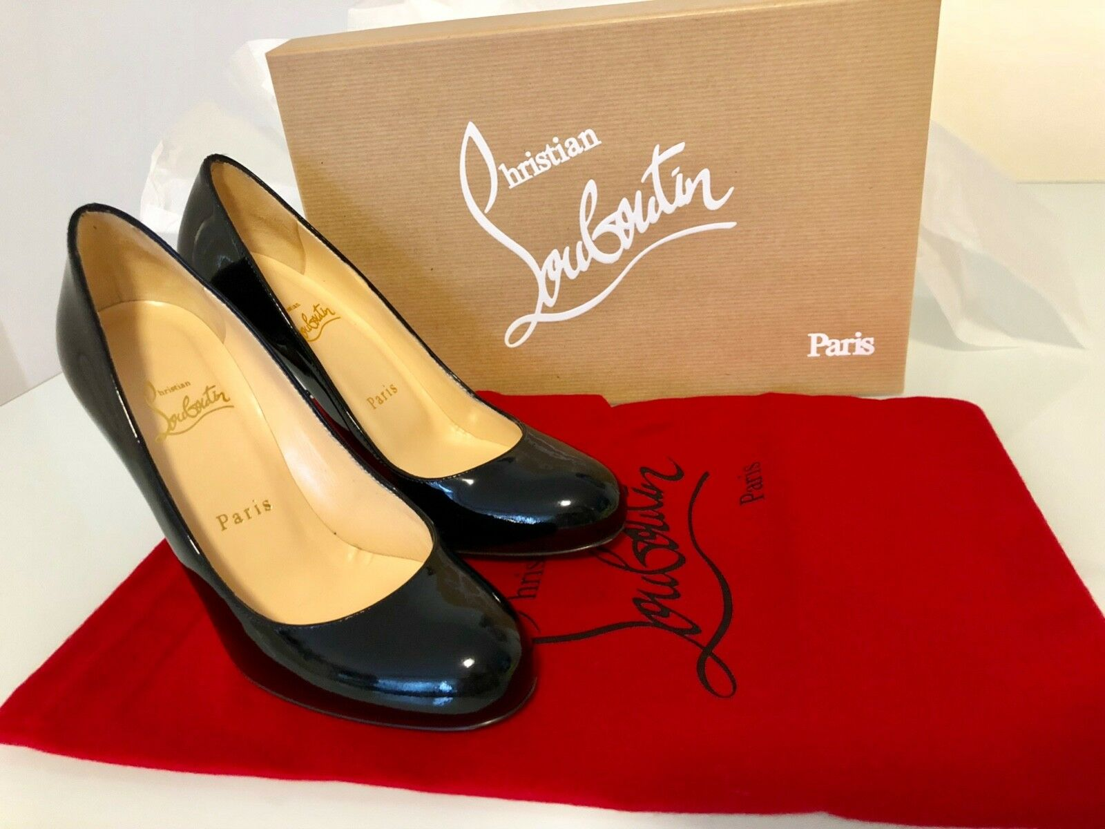 CHRISTIAN LOUBOUTIN Simple Pumps - Patent Leather Calf Size Size Size 36 (worn only once) c0a730
